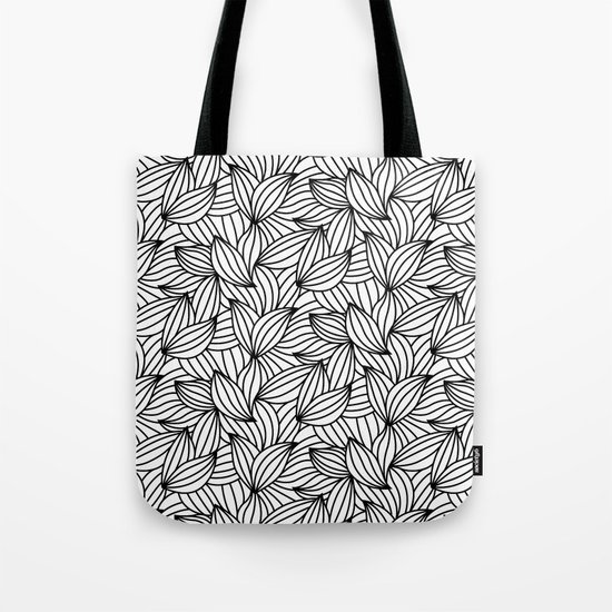Abstract Lines Pattern Design 2 - Leaf Tote Bag