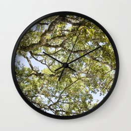 Breathe In and Look Up Wall Clock