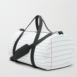 Notepaper Duffle Bag