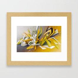 Auf der Lauer - Explosion Framed Art Print