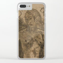 Tahitian Family Clear iPhone Case
