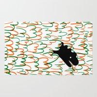 dinosaur Area & Throw Rugs featuring Jungle Dinosaur by David Penela