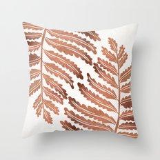 Fern Leaf – Rose Gold Palette Throw Pillow