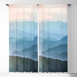 Great Smoky Mountain National Park Sunset Layers - Nature Photography Blackout Curtain