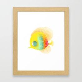 Bajo del mar Framed Art Print