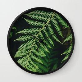 Dark Greens Wall Clock