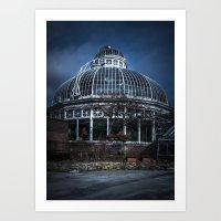 Allan Gardens Conservatory Palm House Toronto Canada No 2 Color Version Art Print