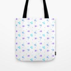 Watercolor Floral Print (blue + violet) Tote Bag