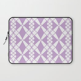 Abstract geometric pattern - purple and white. Laptop Sleeve