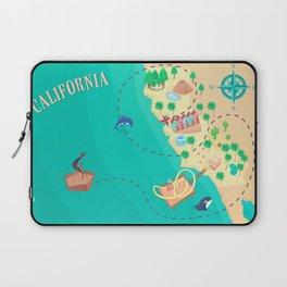 California Treasure Map Laptop Sleeve