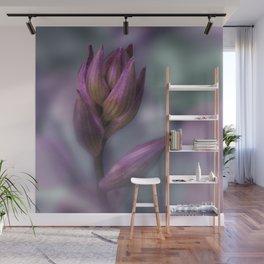 Hosta Flower Bud Purple And Green Wall Mural