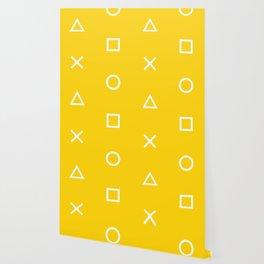 Yellow Gamer Pattern Wallpaper