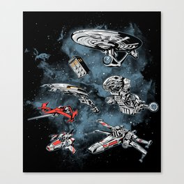 Ultimate Space Fleet Canvas Print