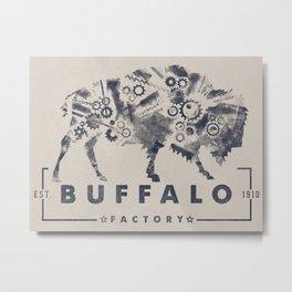 BUFFALO FACTORY GEARS Metal Print