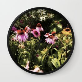 Summer in the Ether: Wild Flowers of Bright Pastures Wall Clock