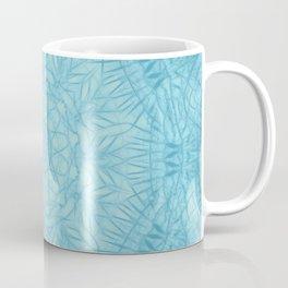 Abstract blue thistle mandala Coffee Mug
