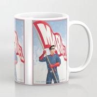 bucky barnes Mugs featuring Bucky Barnes by Arne AKA Ratscape