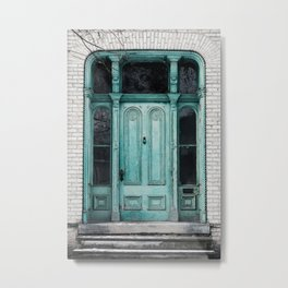 Turquoise Door Photography Metal Print