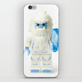 White Yeti Minifig eating an icecream iPhone Skin