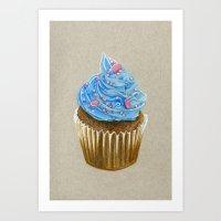 "cupcake Art Prints featuring ""Cupcake"" by Allana Vazquez"
