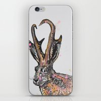 jackalope iPhone & iPod Skins featuring Jackalope by Joseph Kennelty
