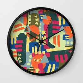 Abstract geometric shapes pattern Wall Clock