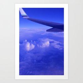 Aerial Blue Hues II Art Print