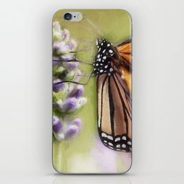 A Monarch and her Lavender iPhone Skin