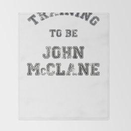 Training to be John McClane Throw Blanket