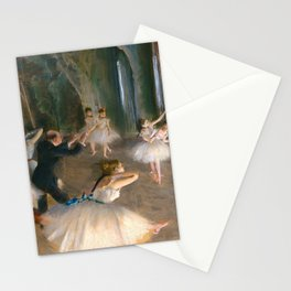 """Edgar Degas """"The Rehearsal Onstage"""" Stationery Cards"""