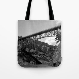 Deception Pass, the Bridge to Whidbey Island Tote Bag