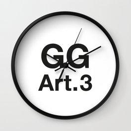 GG Art. 3 Wall Clock