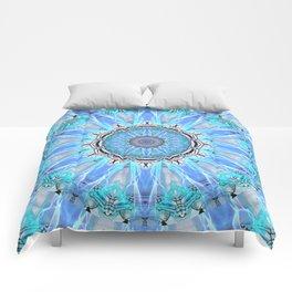 Sapphire Ice Flame, Light Bright Crystal Wheel Comforters