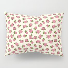 Simple Linework Roses - Pink and Yellow Pillow Sham