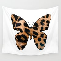 leopard Wall Tapestries featuring LEOPARD BUTTERFLY by Catspaws