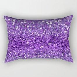 Ultra Violet Purple Glitter Rectangular Pillow