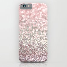 Girly Pink Snowfall Slim Case iPhone 6