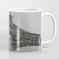 eiffel Mugs featuring Eiffel by Esteban Garza