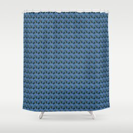 Birds - Royalblue Shower Curtain