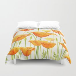 Blossom Poppies Duvet Cover