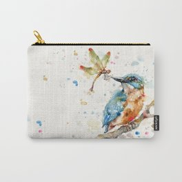 Interesting Relationships (Kingfisher & Dragonfly) Carry-All Pouch