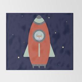 Fox Rocket Throw Blanket