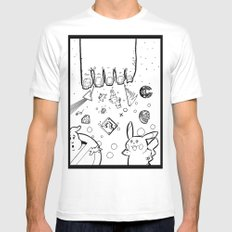 The Sand Between God's Toes White Mens Fitted Tee MEDIUM