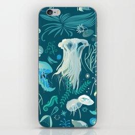 Aqua pattern iPhone Skin
