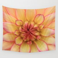 dahlia Wall Tapestries featuring Dahlia - JUSTART © by JUSTART