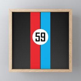Brumos Racing Carbon Fibre design Framed Mini Art Print