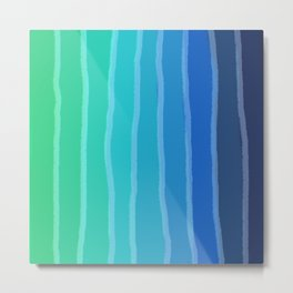Vertical Color Tones #2 - Rainbow Collection Metal Print