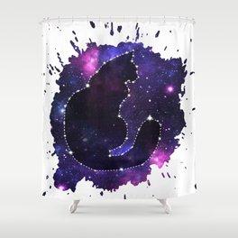 Cat Constellation Shower Curtain