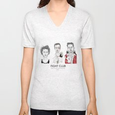The First rule is - Triptych Unisex V-Neck