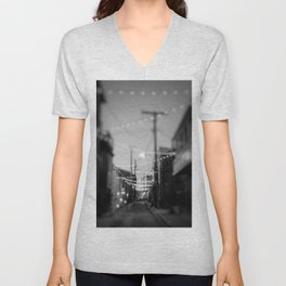 Party Lights in the City Unisex V-Neck